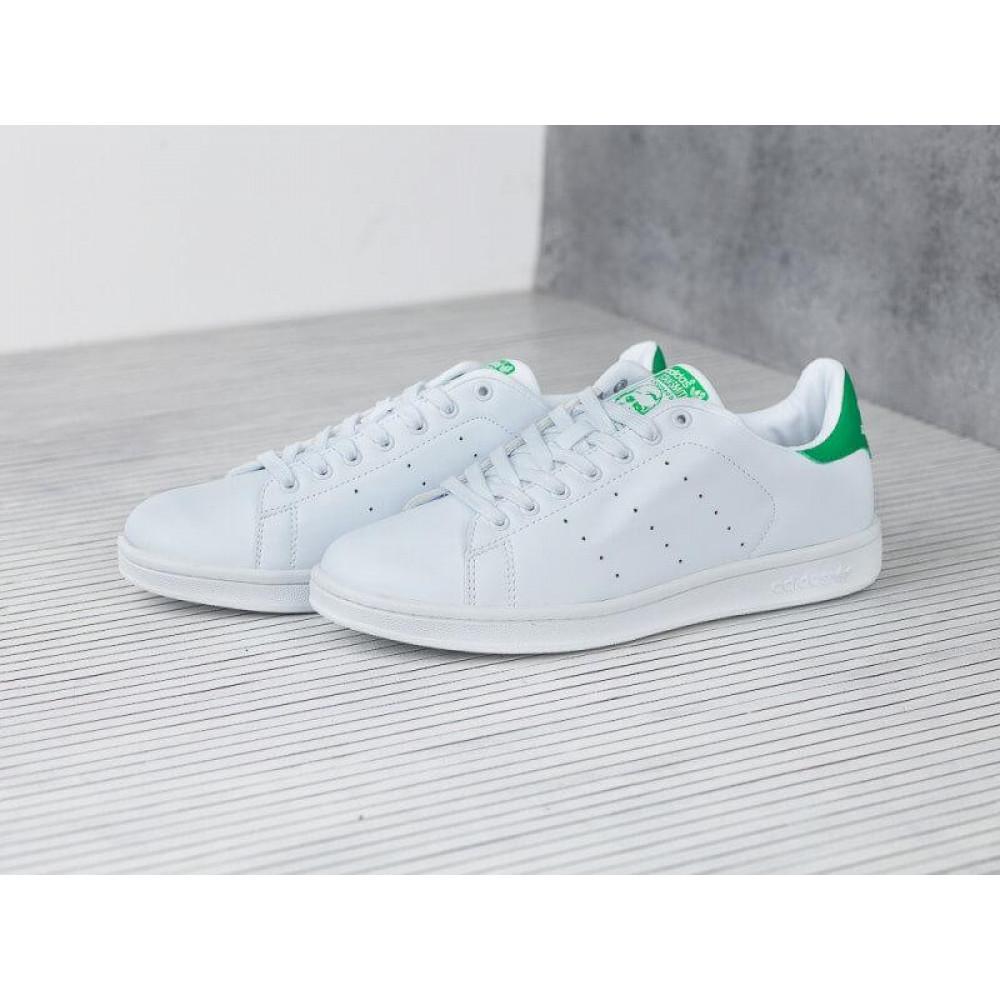 Летние кроссовки мужские - Кроссовки Adidas Stan Smith белые с зеленым 2