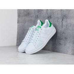 Кроссовки Adidas Stan Smith белые с зеленым