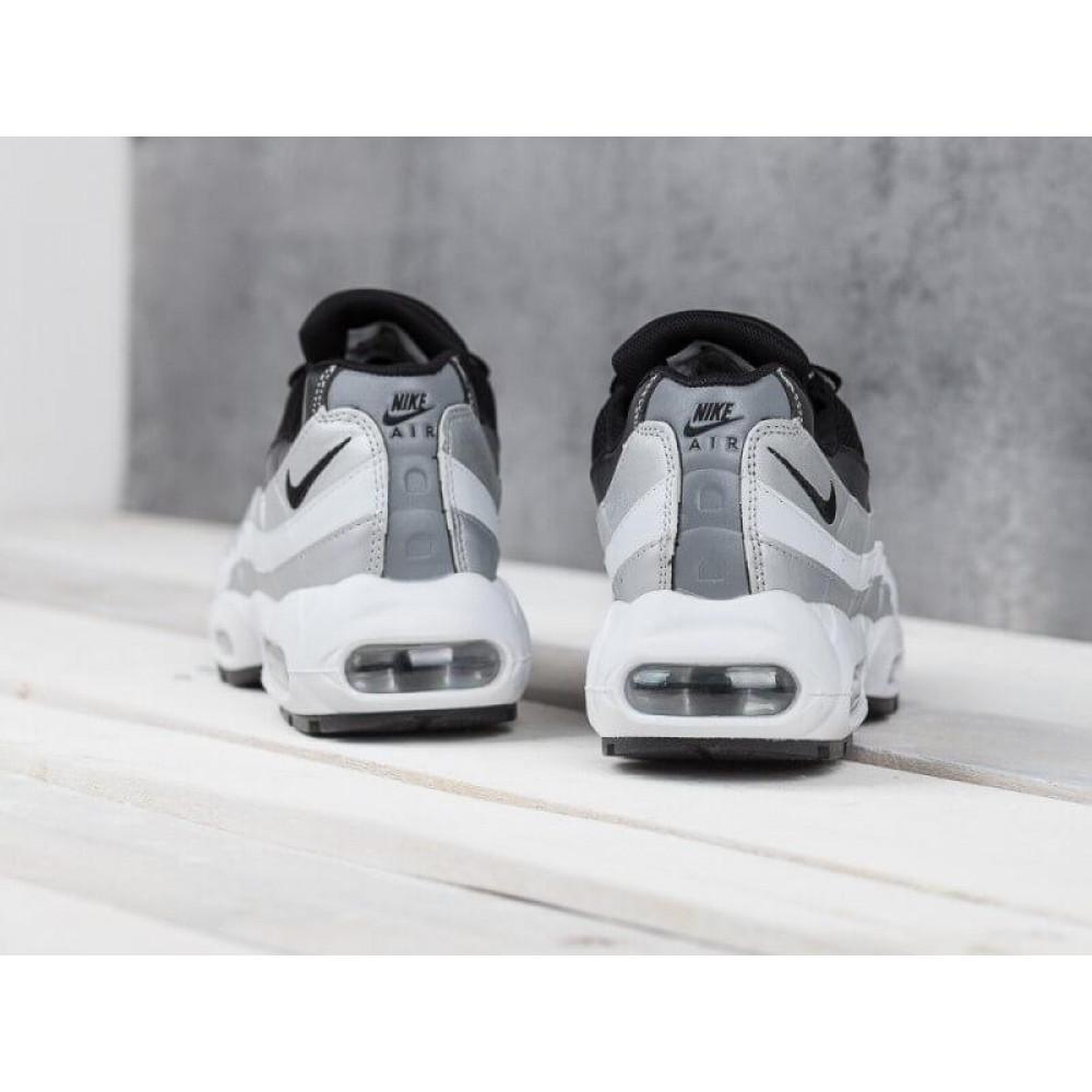 Демисезонные кроссовки мужские   - Мужские модные кроссовки Nike Air Max 95 Silver Black 8