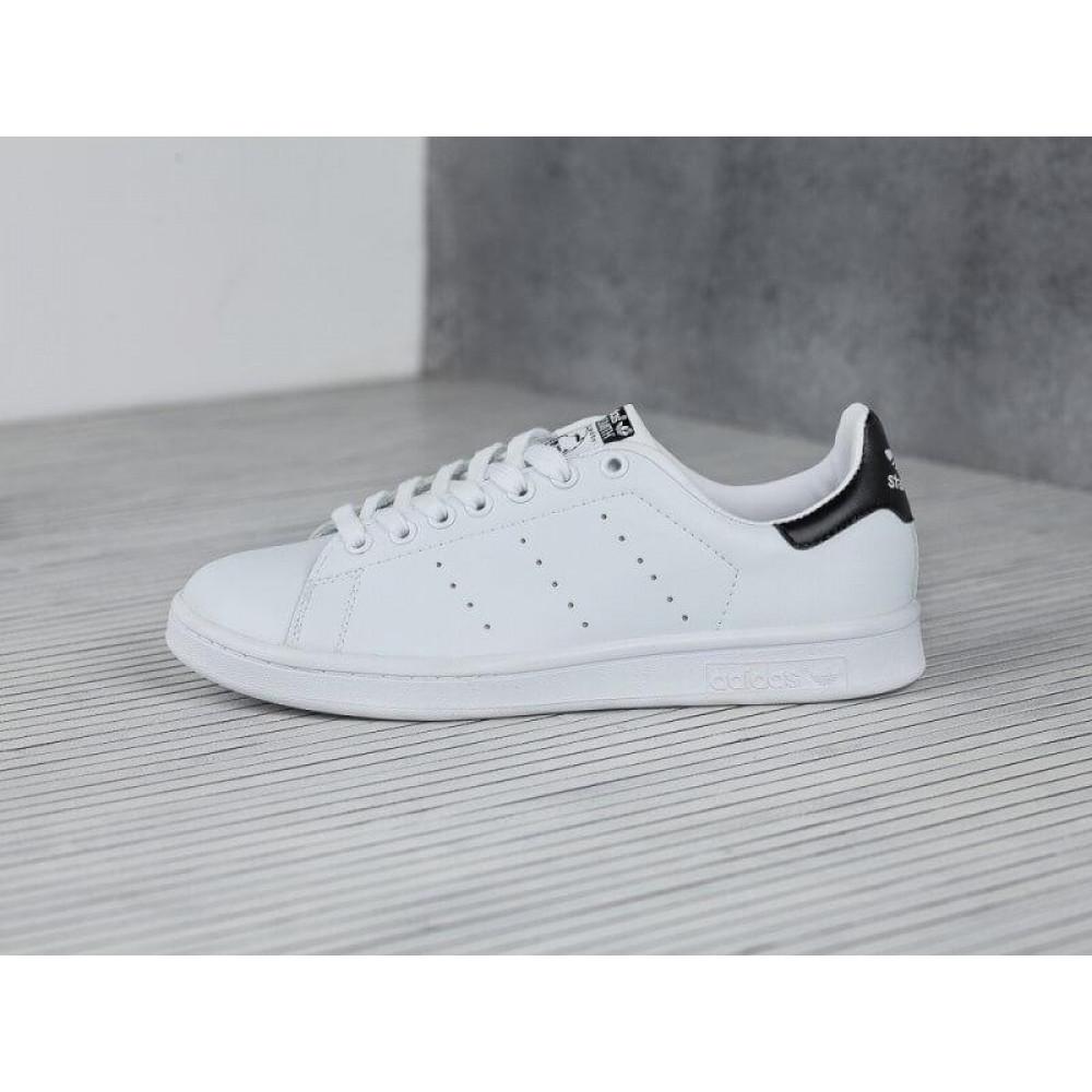 Классические кроссовки мужские - Кроссовки Adidas Stan Smith White Black 5