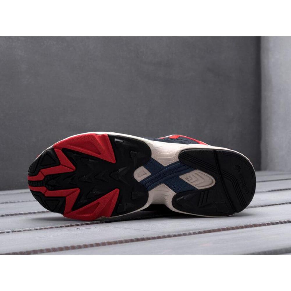 Классические кроссовки мужские - Кроссовки Adidas Yeezy Yung-1 White Red Suede 7