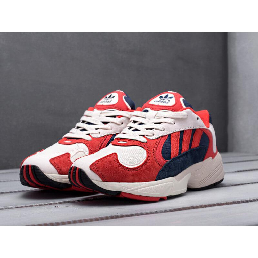 Классические кроссовки мужские - Кроссовки Adidas Yeezy Yung-1 White Red Suede 8