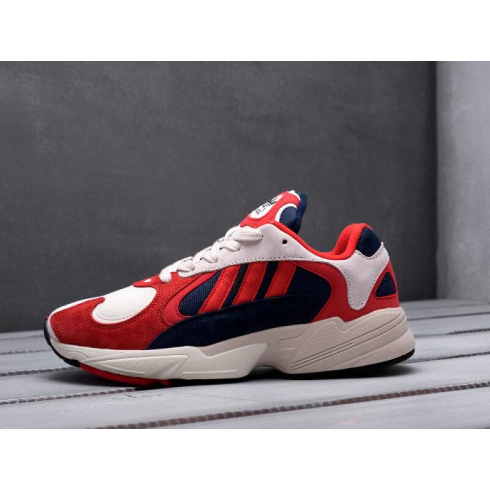 Классические кроссовки мужские - Кроссовки Adidas Yeezy Yung-1 White Red Suede 9