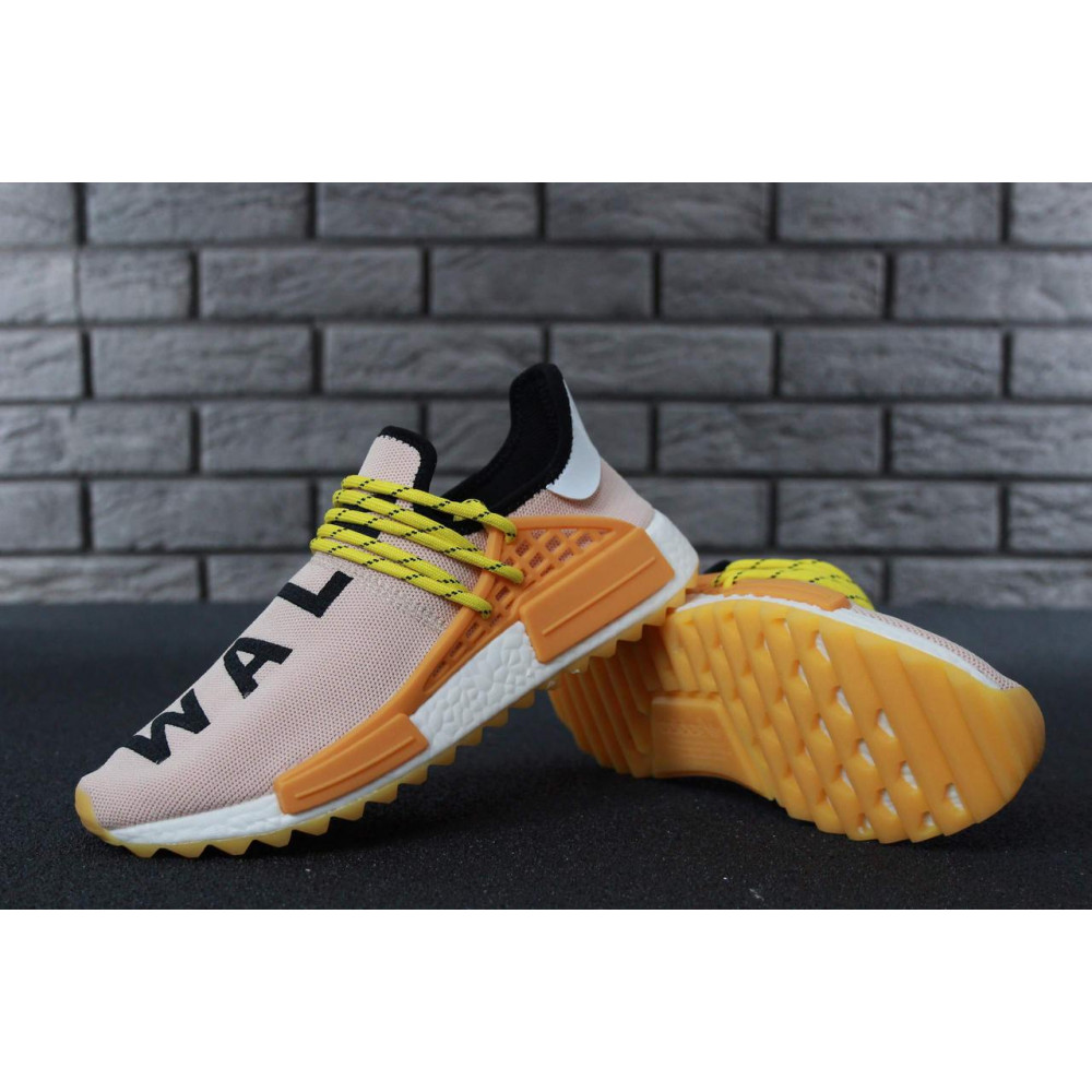 Беговые кроссовки мужские  - Кроссовки Adidas Nmd Human Race Men Lake Blue Orange 2
