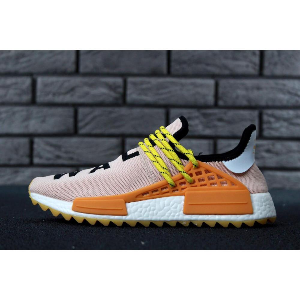 Беговые кроссовки мужские  - Кроссовки Adidas Nmd Human Race Men Lake Blue Orange 3