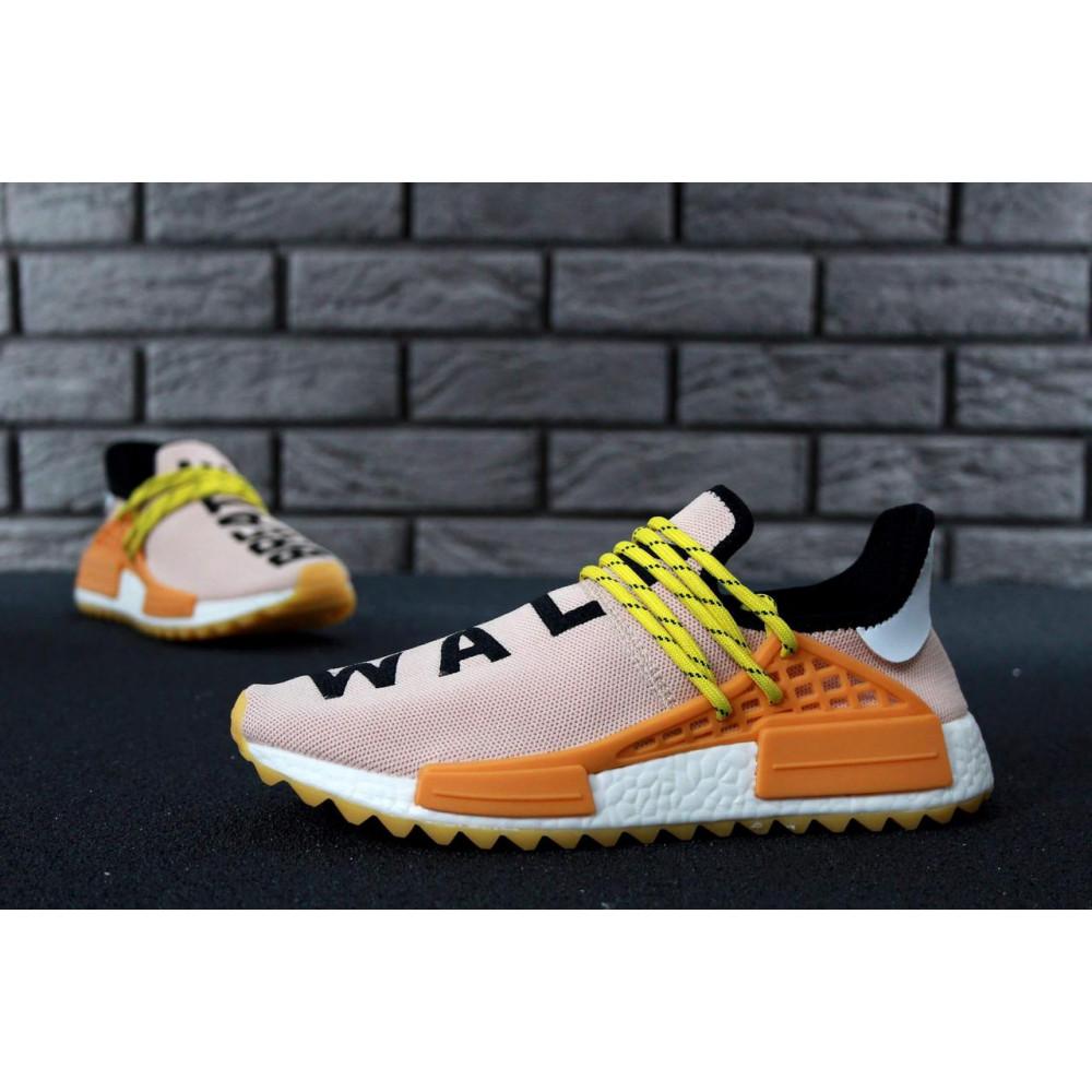 Беговые кроссовки мужские  - Кроссовки Adidas Nmd Human Race Men Lake Blue Orange 6
