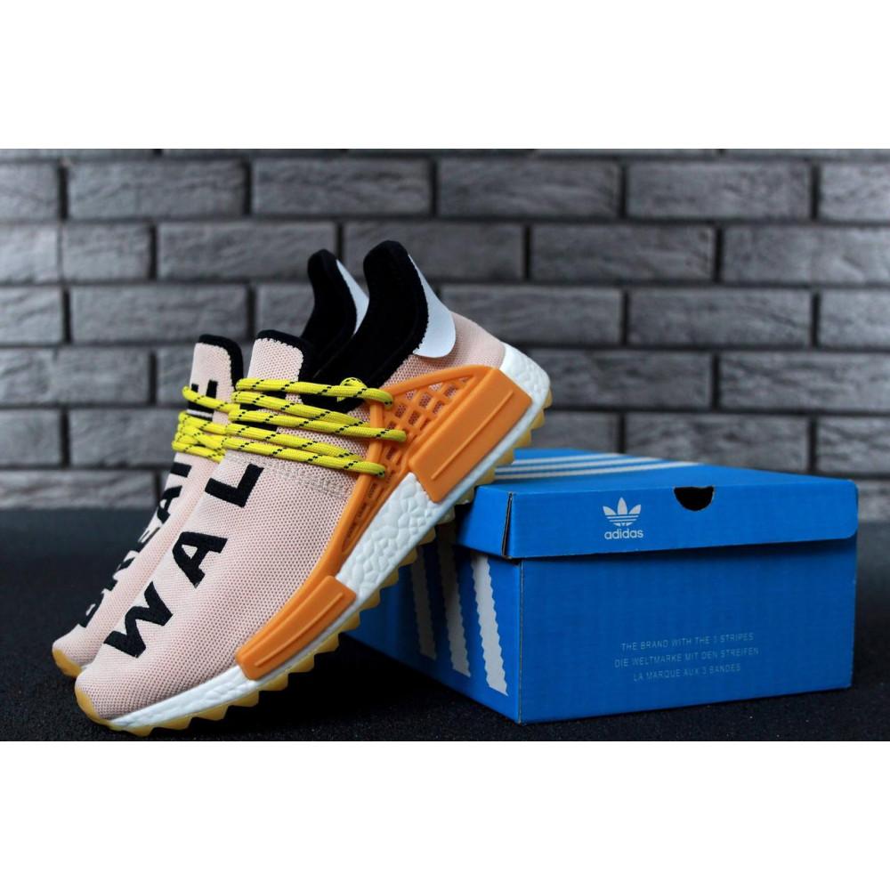Беговые кроссовки мужские  - Кроссовки Adidas Nmd Human Race Men Lake Blue Orange