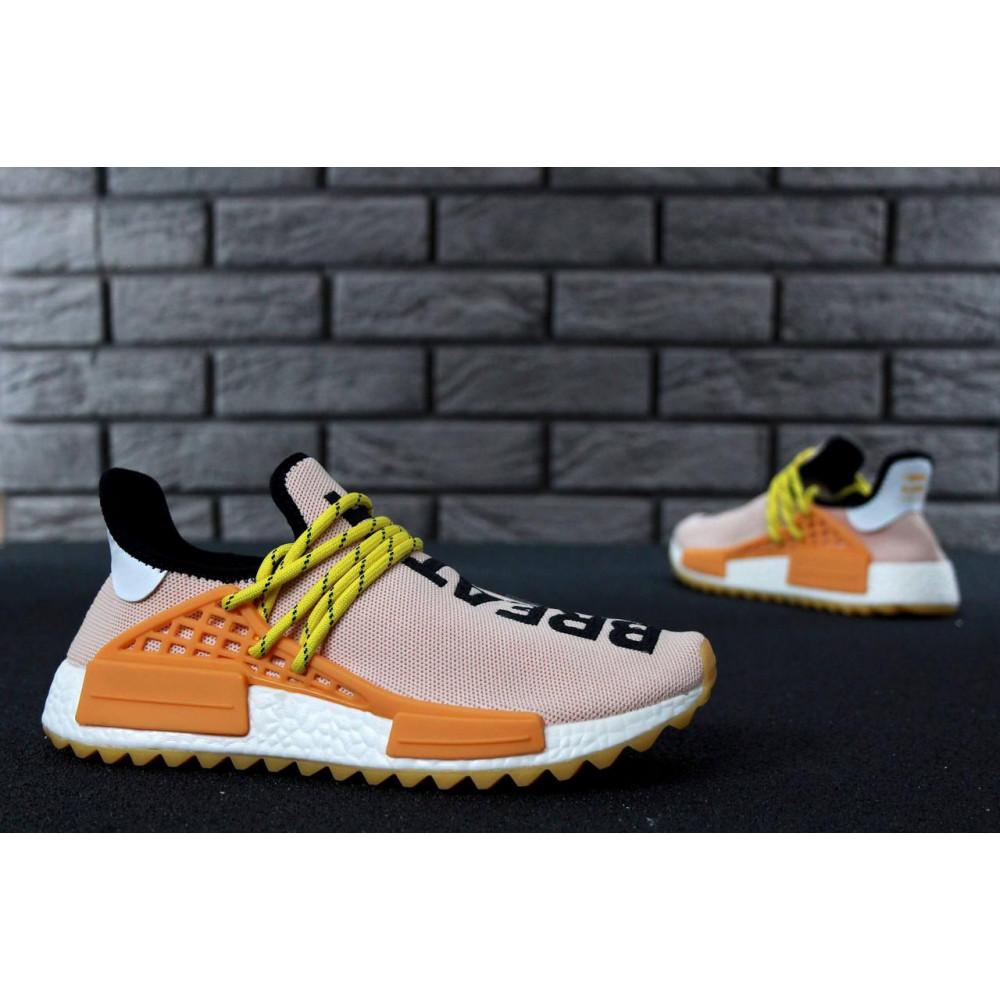 Беговые кроссовки мужские  - Кроссовки Adidas Nmd Human Race Men Lake Blue Orange 4