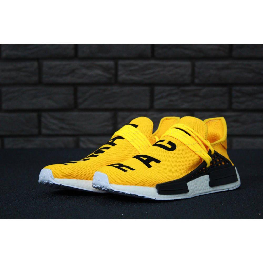 Беговые кроссовки мужские  - Кроссовки Adidas Nmd Human Race Men Yellow Black White 9