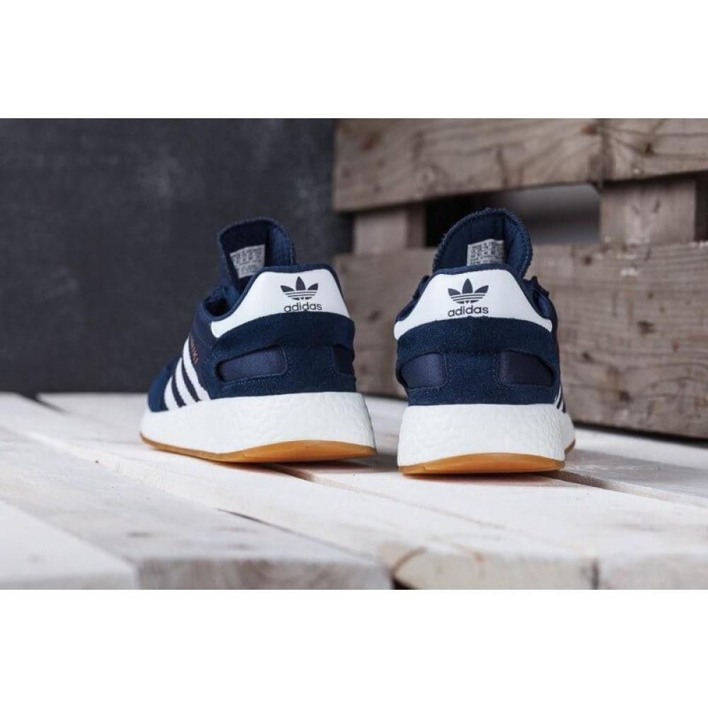 Демисезонные кроссовки мужские   - Кроссовки Adidas Iniki Runner Boost Navy Blue Gum 2