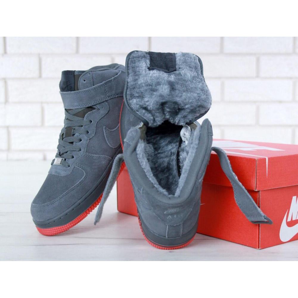 Зимние кроссовки мужские - Мужские зимние кроссовки с мехом Air Force 1 High Grey Winter 7