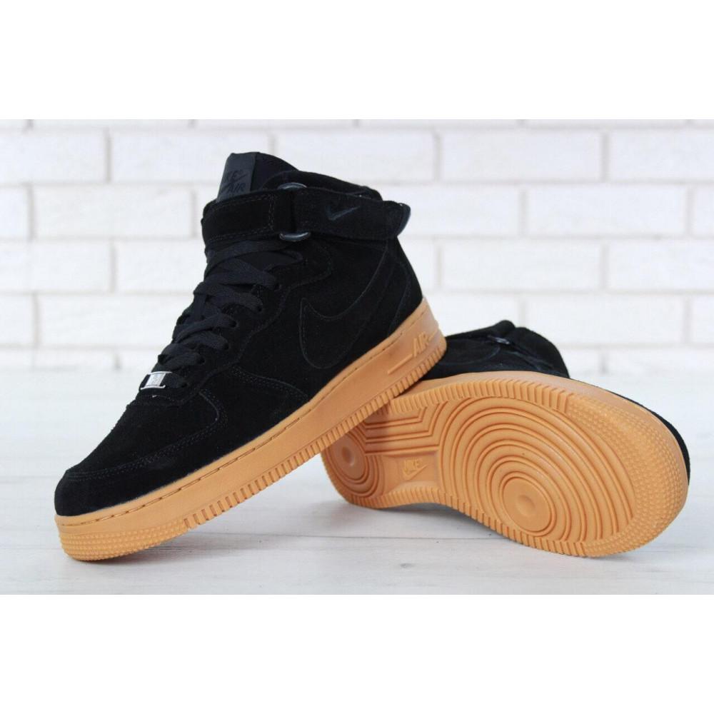 Зимние кроссовки мужские - Мужские зимние кроссовки с мехом Nike Air Force 1 High Black Gum Winter 6