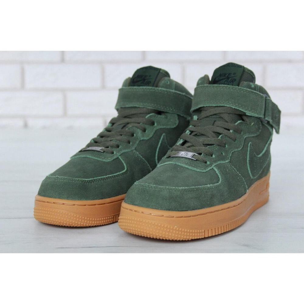 Зимние кроссовки мужские - Мужские зимние кроссовки с мехом Nike Air Force 1 High Green Winter 2