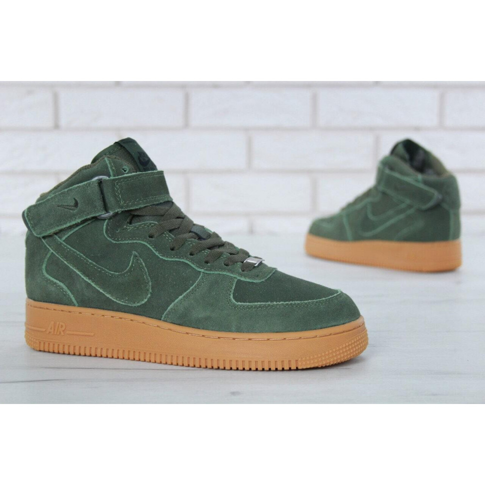 Зимние кроссовки мужские - Мужские зимние кроссовки с мехом Nike Air Force 1 High Green Winter 1