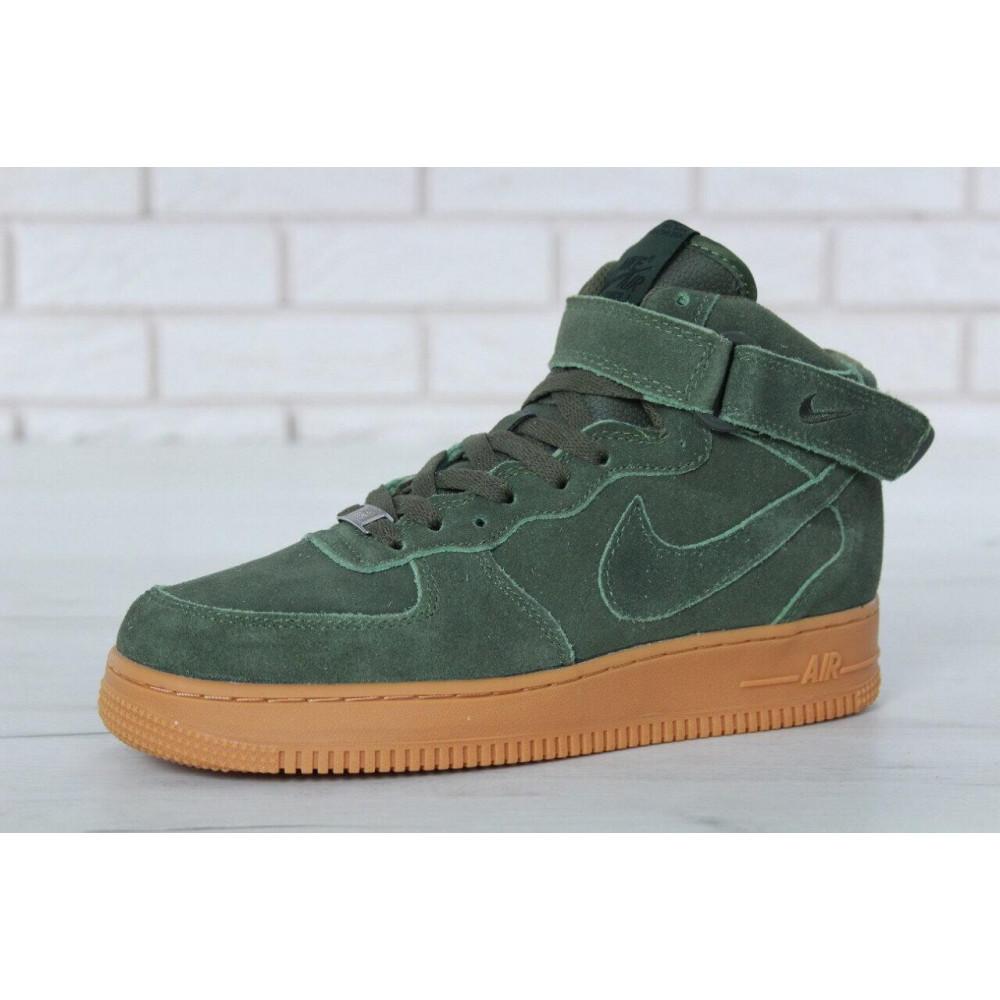 Зимние кроссовки мужские - Мужские зимние кроссовки с мехом Nike Air Force 1 High Green Winter 3