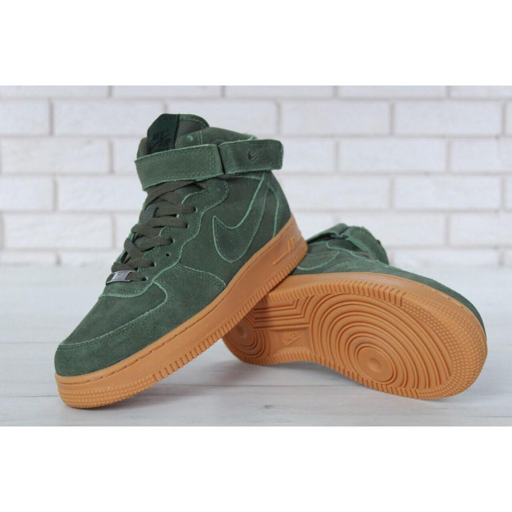 Зимние кроссовки мужские - Мужские зимние кроссовки с мехом Nike Air Force 1 High Green Winter 5