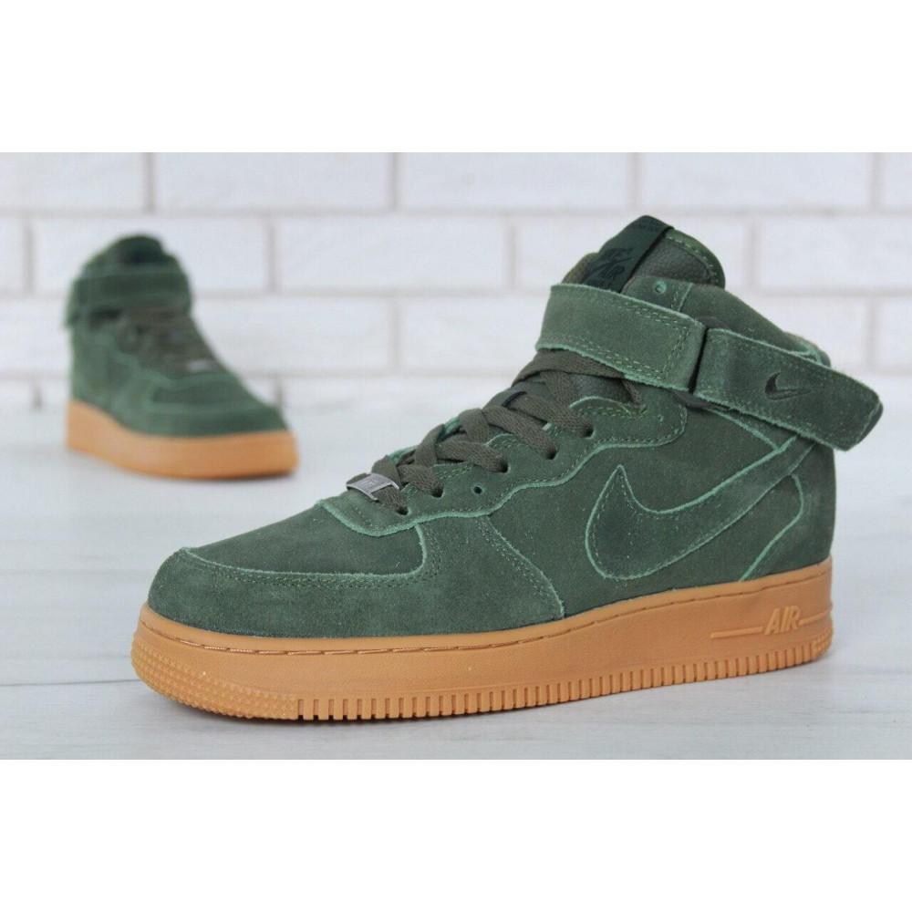 Зимние кроссовки мужские - Мужские зимние кроссовки с мехом Nike Air Force 1 High Green Winter 6