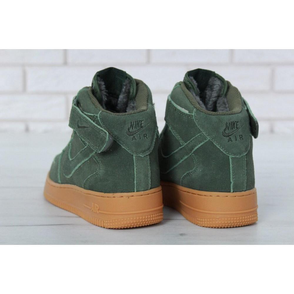 Зимние кроссовки мужские - Мужские зимние кроссовки с мехом Nike Air Force 1 High Green Winter 8