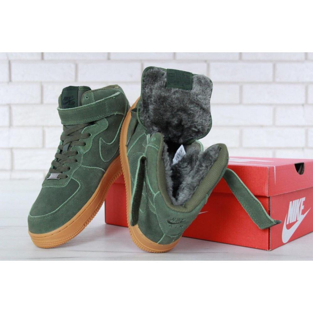 Зимние кроссовки мужские - Мужские зимние кроссовки с мехом Nike Air Force 1 High Green Winter 7