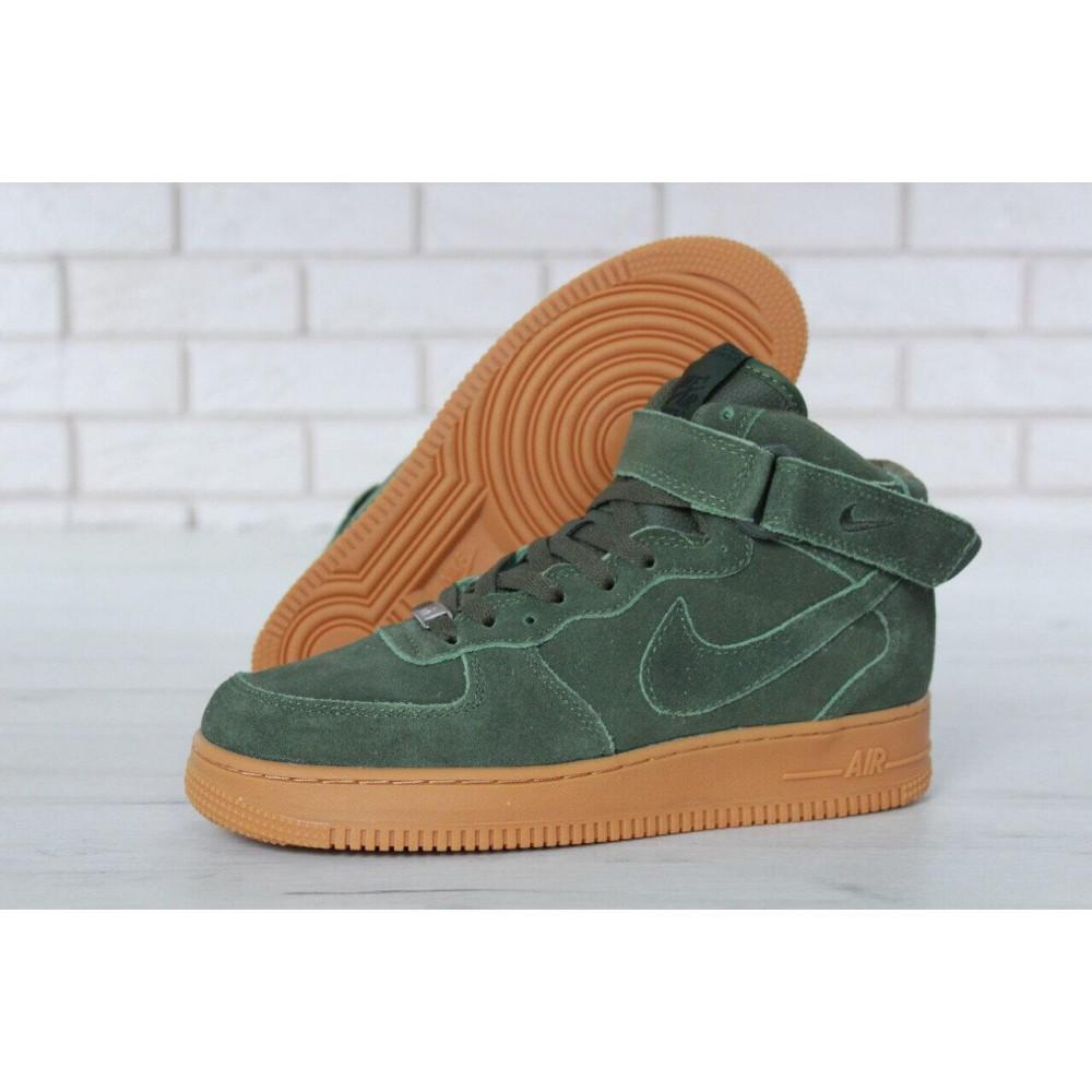 Зимние кроссовки мужские - Мужские зимние кроссовки с мехом Nike Air Force 1 High Green Winter 4