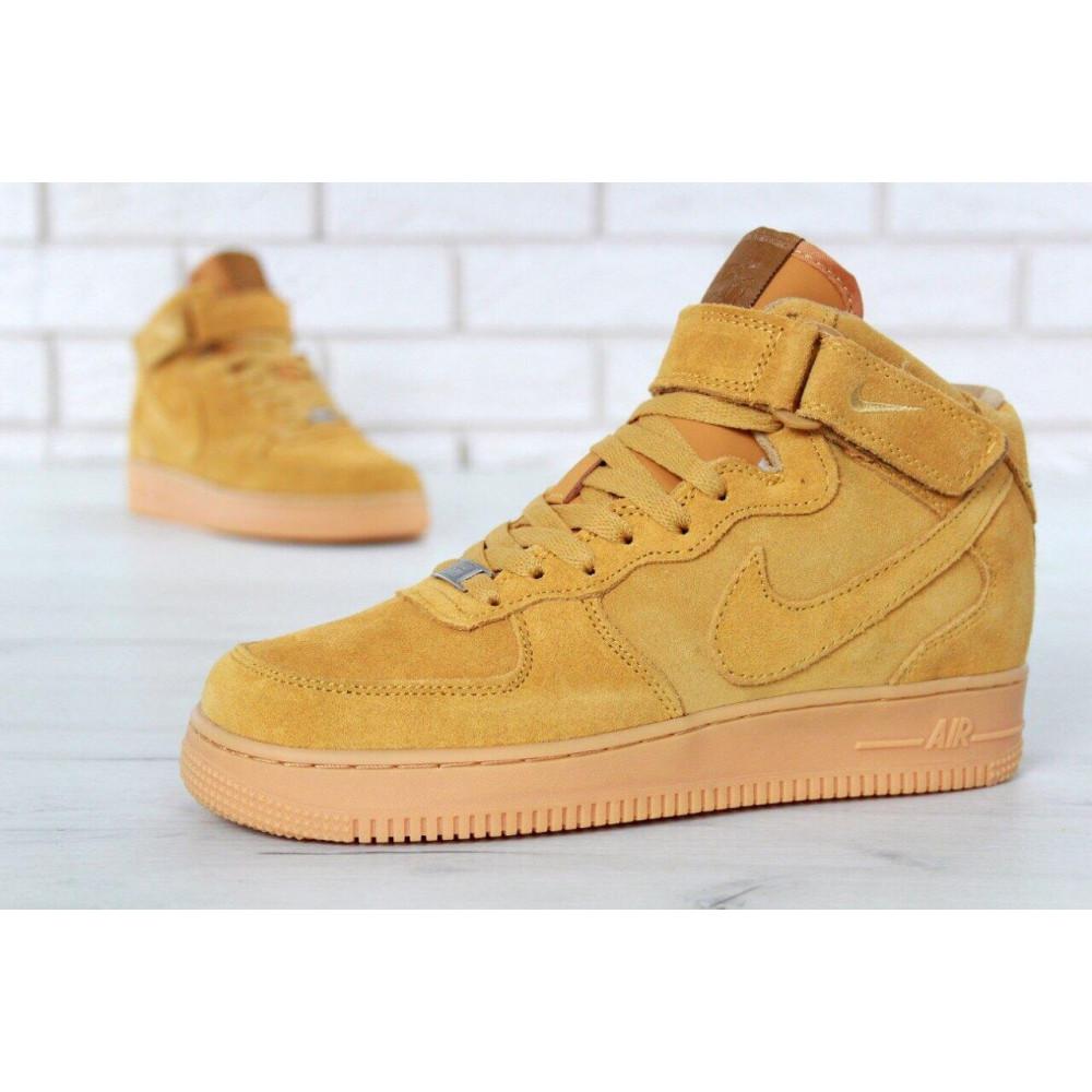 Зимние кроссовки мужские - Мужские зимние кроссовки с мехом Nike Air Force 1 High Yellow Winter 1