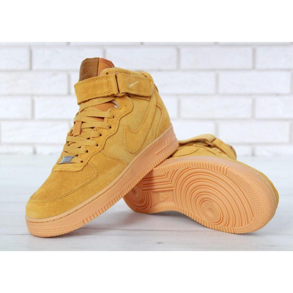 Зимние кроссовки мужские - Мужские зимние кроссовки с мехом Nike Air Force 1 High Yellow Winter 7