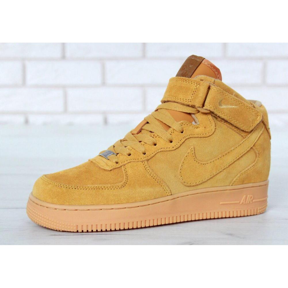 Зимние кроссовки мужские - Мужские зимние кроссовки с мехом Nike Air Force 1 High Yellow Winter 6