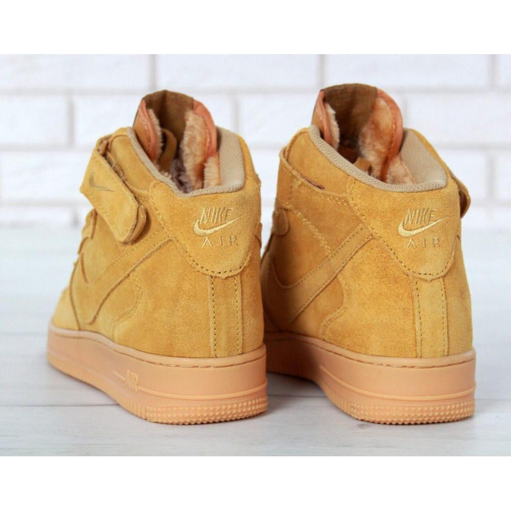 Зимние кроссовки мужские - Мужские зимние кроссовки с мехом Nike Air Force 1 High Yellow Winter 5
