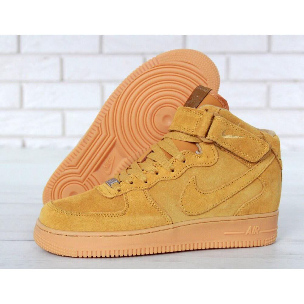 Зимние кроссовки мужские - Мужские зимние кроссовки с мехом Nike Air Force 1 High Yellow Winter 2