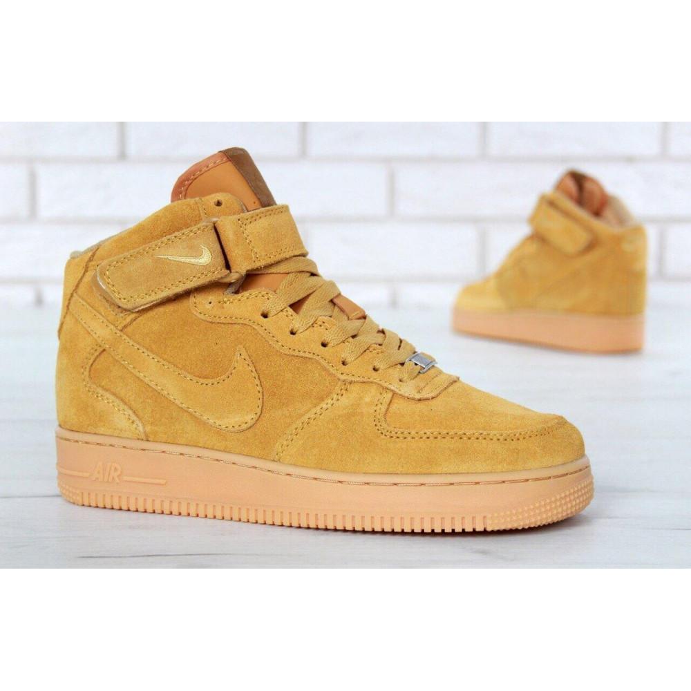 Зимние кроссовки мужские - Мужские зимние кроссовки с мехом Nike Air Force 1 High Yellow Winter 3