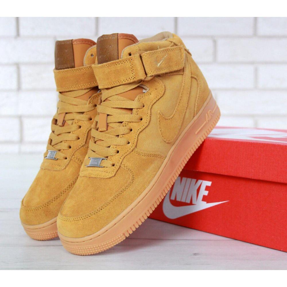 Зимние кроссовки мужские - Мужские зимние кроссовки с мехом Nike Air Force 1 High Yellow Winter