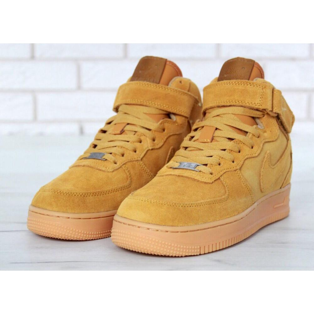 Зимние кроссовки мужские - Мужские зимние кроссовки с мехом Nike Air Force 1 High Yellow Winter 4