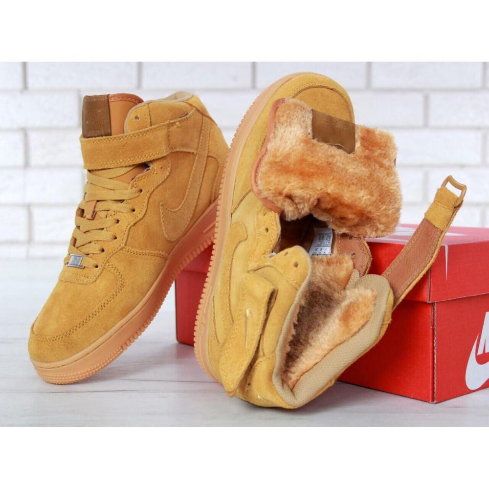 Зимние кроссовки мужские - Мужские зимние кроссовки с мехом Nike Air Force 1 High Yellow Winter 8