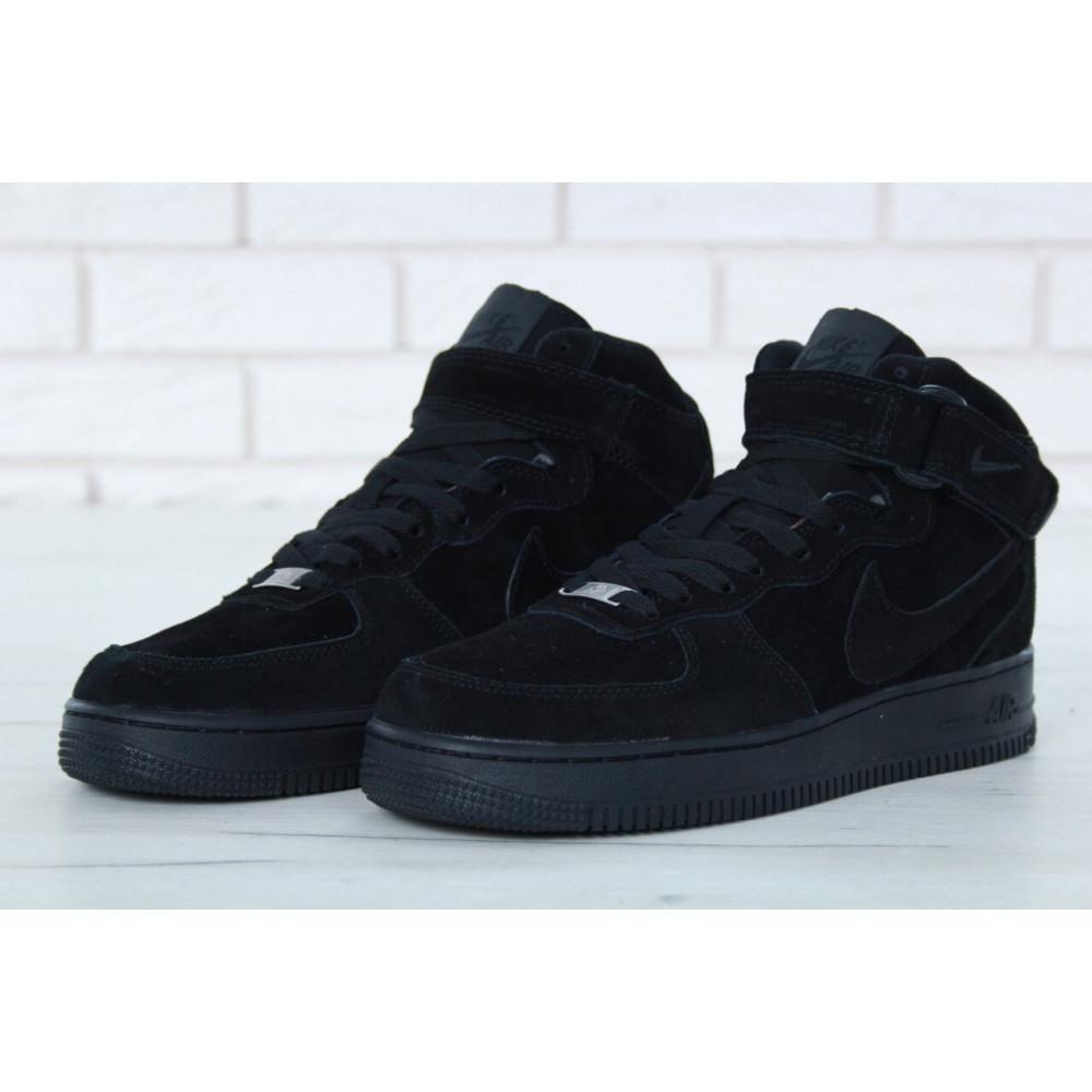 Зимние кроссовки мужские - Мужские зимние кроссовки с мехом Nike Air Force 1 High Triple Black Winter 3