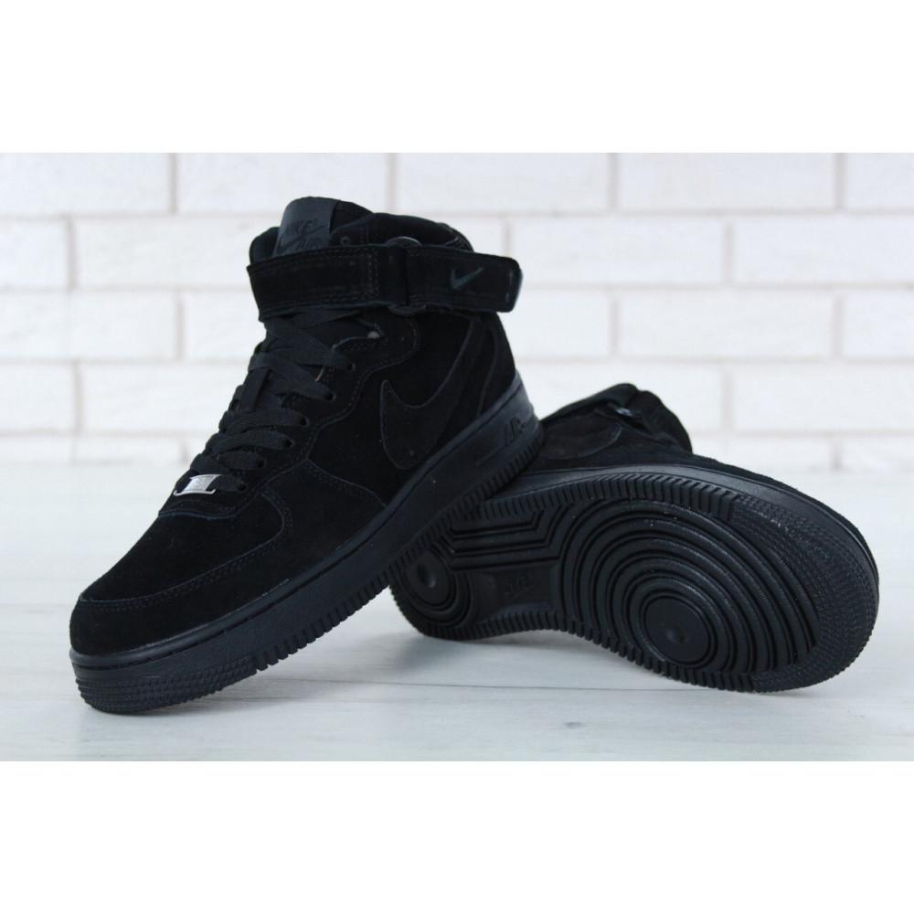 Зимние кроссовки мужские - Мужские зимние кроссовки с мехом Nike Air Force 1 High Triple Black Winter 6