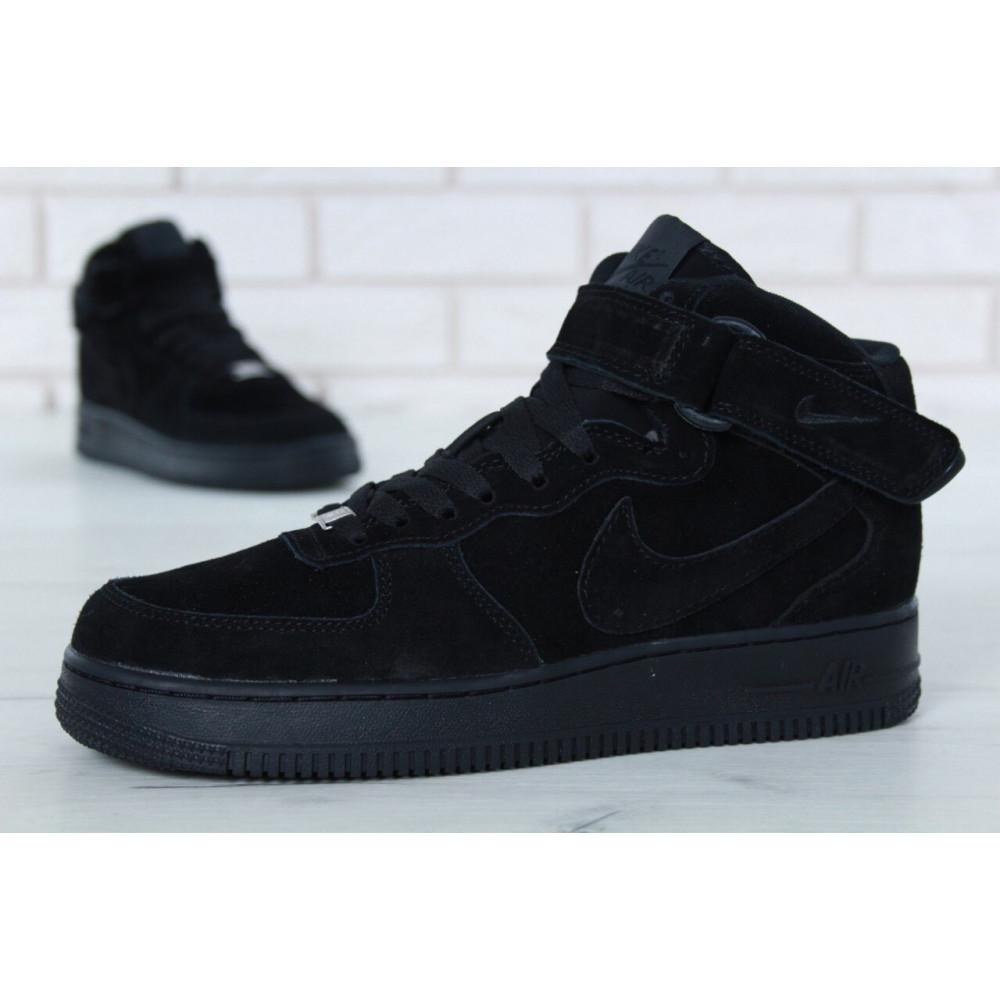 Зимние кроссовки мужские - Мужские зимние кроссовки с мехом Nike Air Force 1 High Triple Black Winter 4