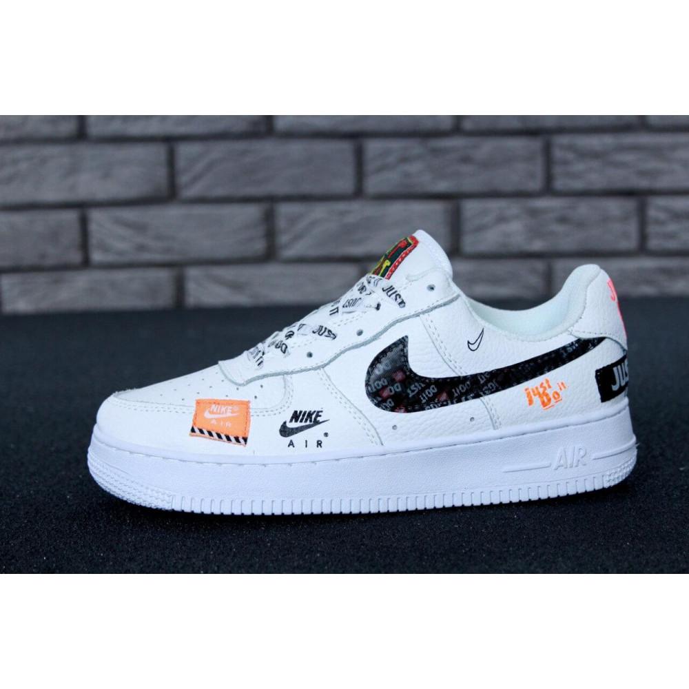 Летние кроссовки мужские - Мужские кроссовки Nike Air Force 1 Low Just Do It Pack White 4