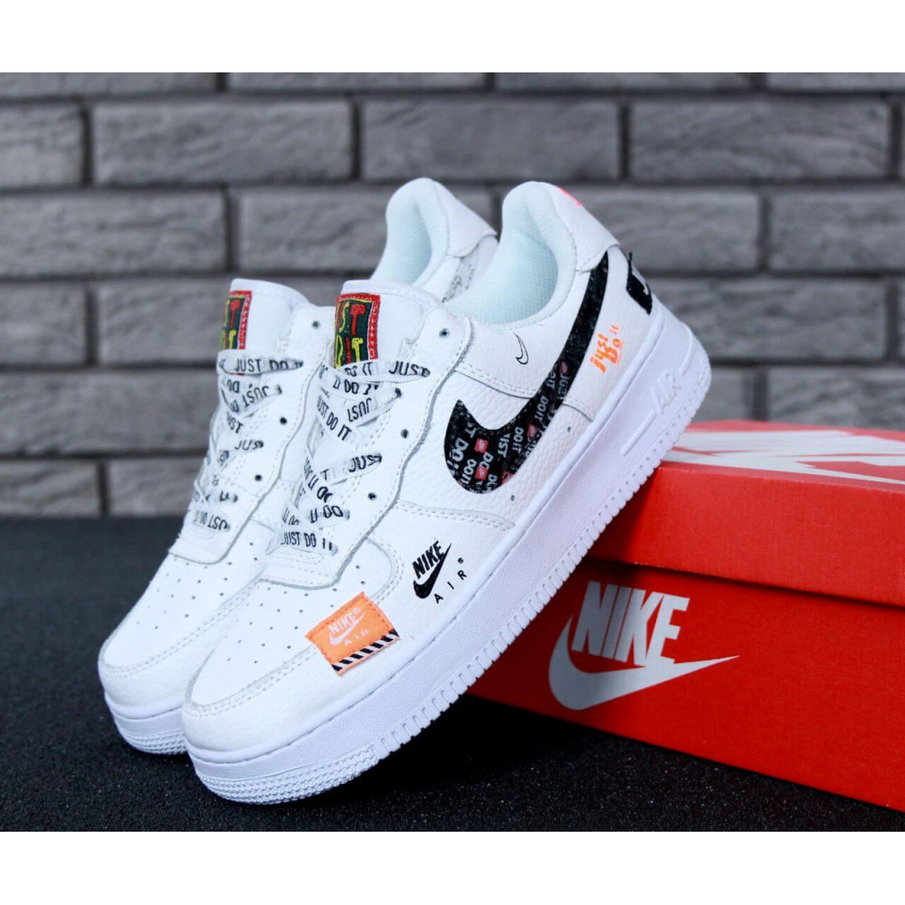 Летние кроссовки мужские - Мужские кроссовки Nike Air Force 1 Low Just Do It Pack White
