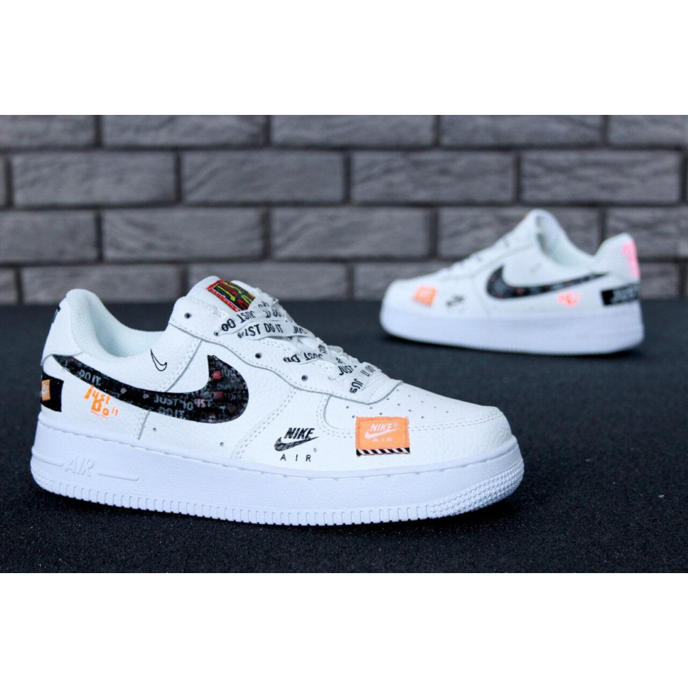 Летние кроссовки мужские - Мужские кроссовки Nike Air Force 1 Low Just Do It Pack White 6