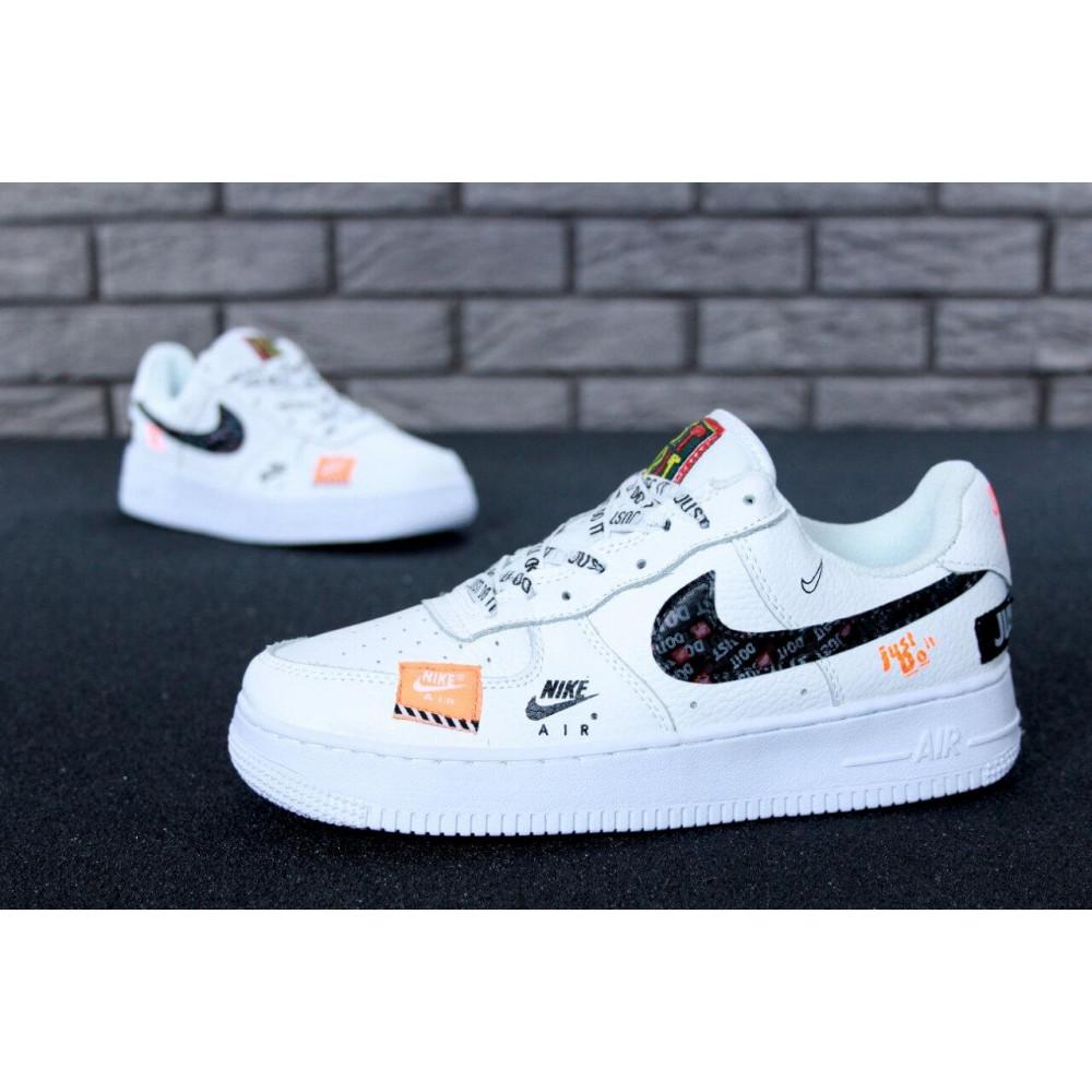 Летние кроссовки мужские - Мужские кроссовки Nike Air Force 1 Low Just Do It Pack White 5