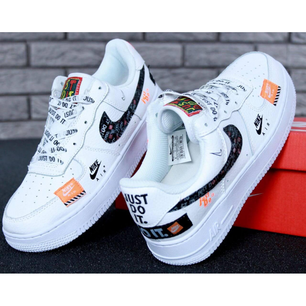 Летние кроссовки мужские - Мужские кроссовки Nike Air Force 1 Low Just Do It Pack White 3