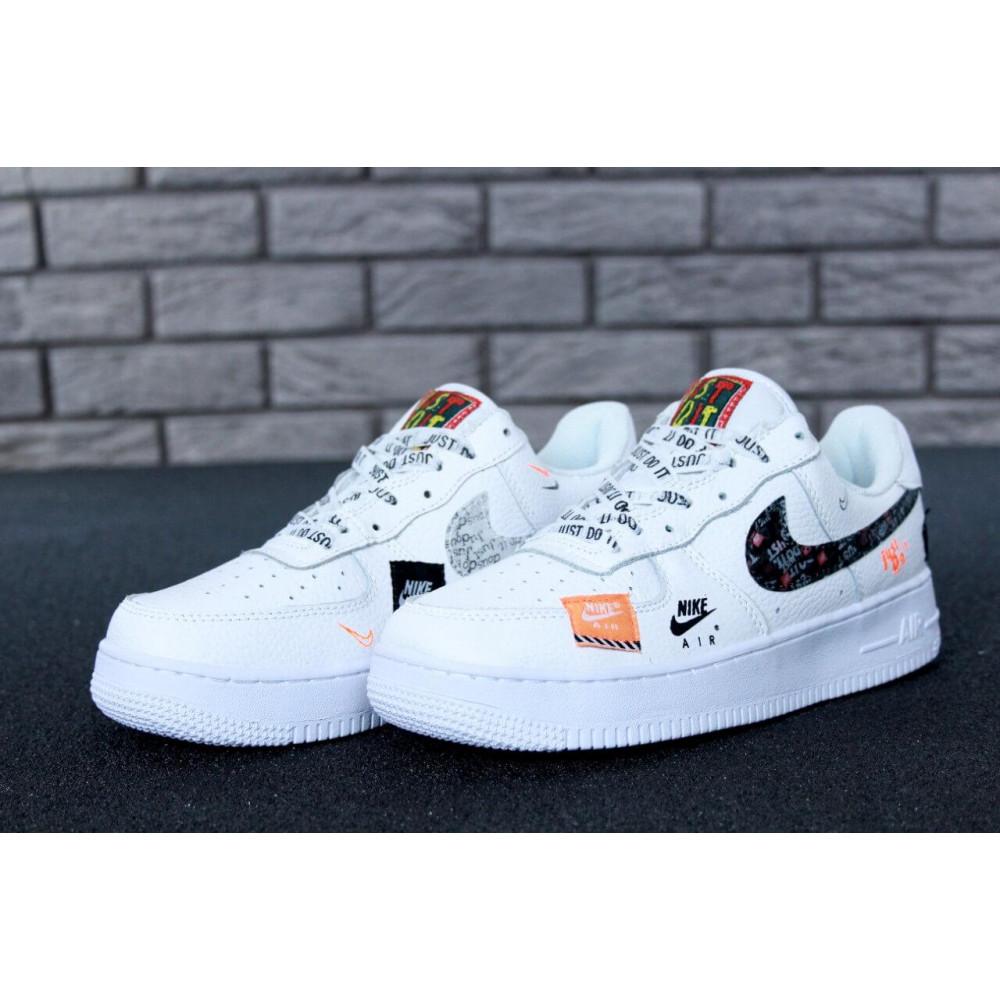 Летние кроссовки мужские - Мужские кроссовки Nike Air Force 1 Low Just Do It Pack White 7