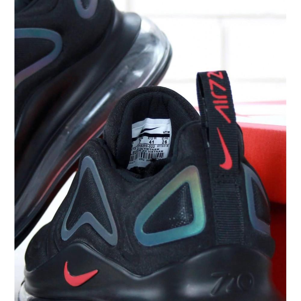 Демисезонные кроссовки мужские   - Черные мужские кроссовки Nike Air Max 720 5