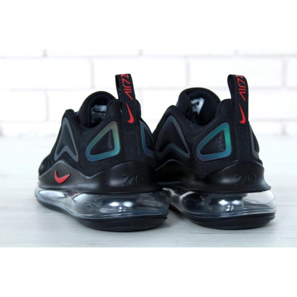 Демисезонные кроссовки мужские   - Черные мужские кроссовки Nike Air Max 720 1
