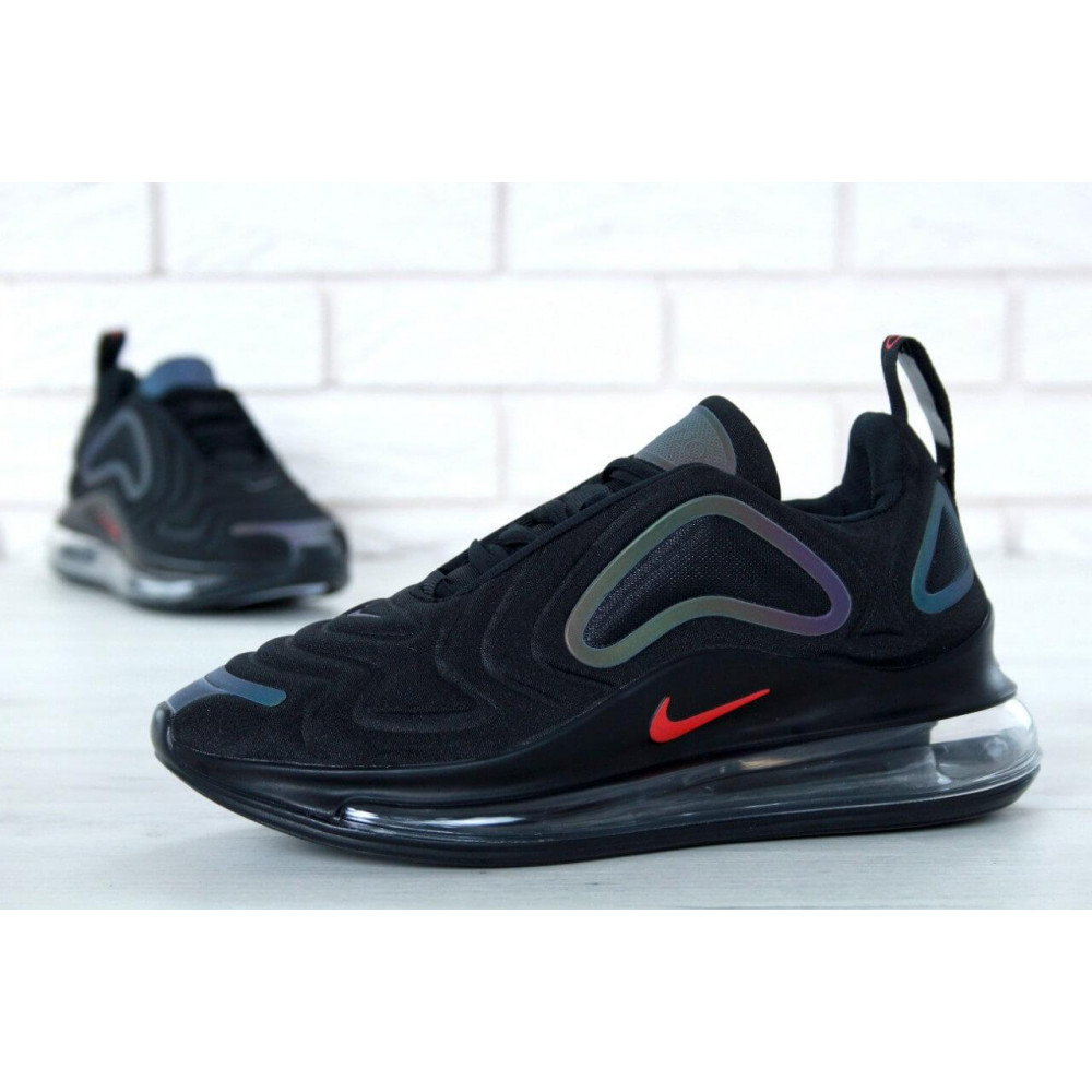 Демисезонные кроссовки мужские   - Черные мужские кроссовки Nike Air Max 720 3