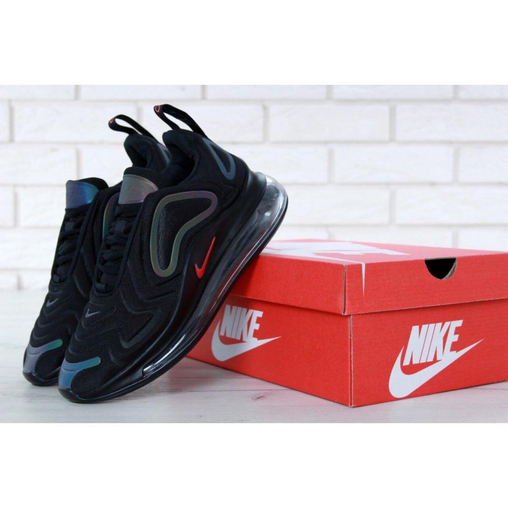 Демисезонные кроссовки мужские   - Черные мужские кроссовки Nike Air Max 720