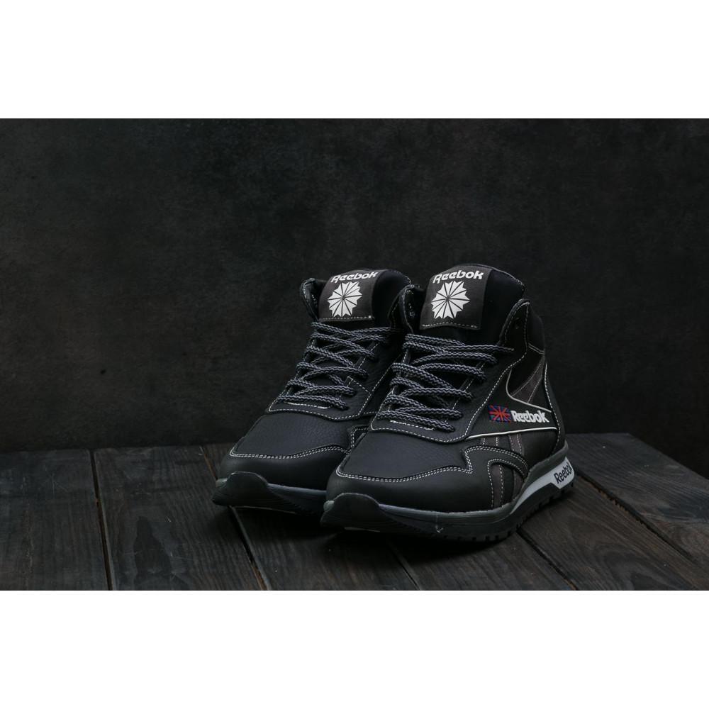 Зимние кроссовки мужские - Мужские кроссовки кожаные зимние черные-серые CrosSAV 50 4