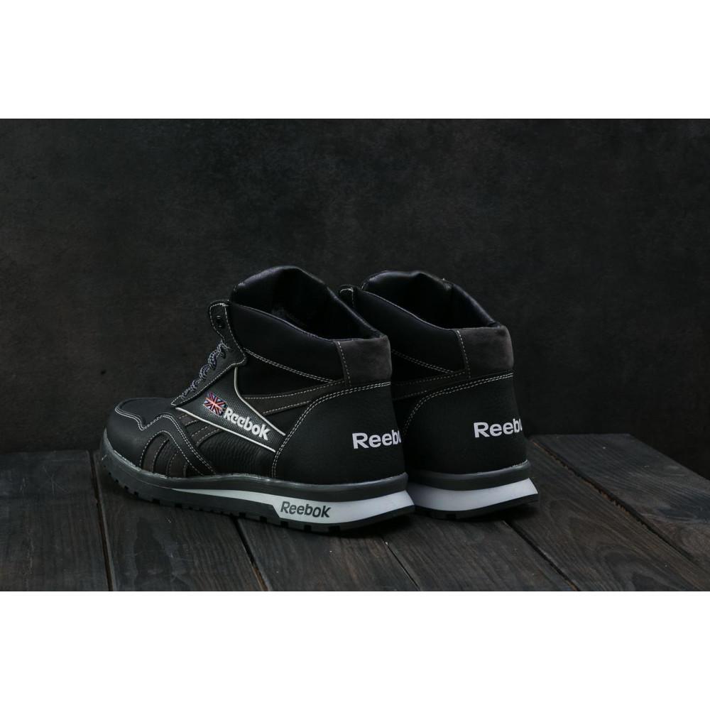 Зимние кроссовки мужские - Мужские кроссовки кожаные зимние черные-серые CrosSAV 50 2