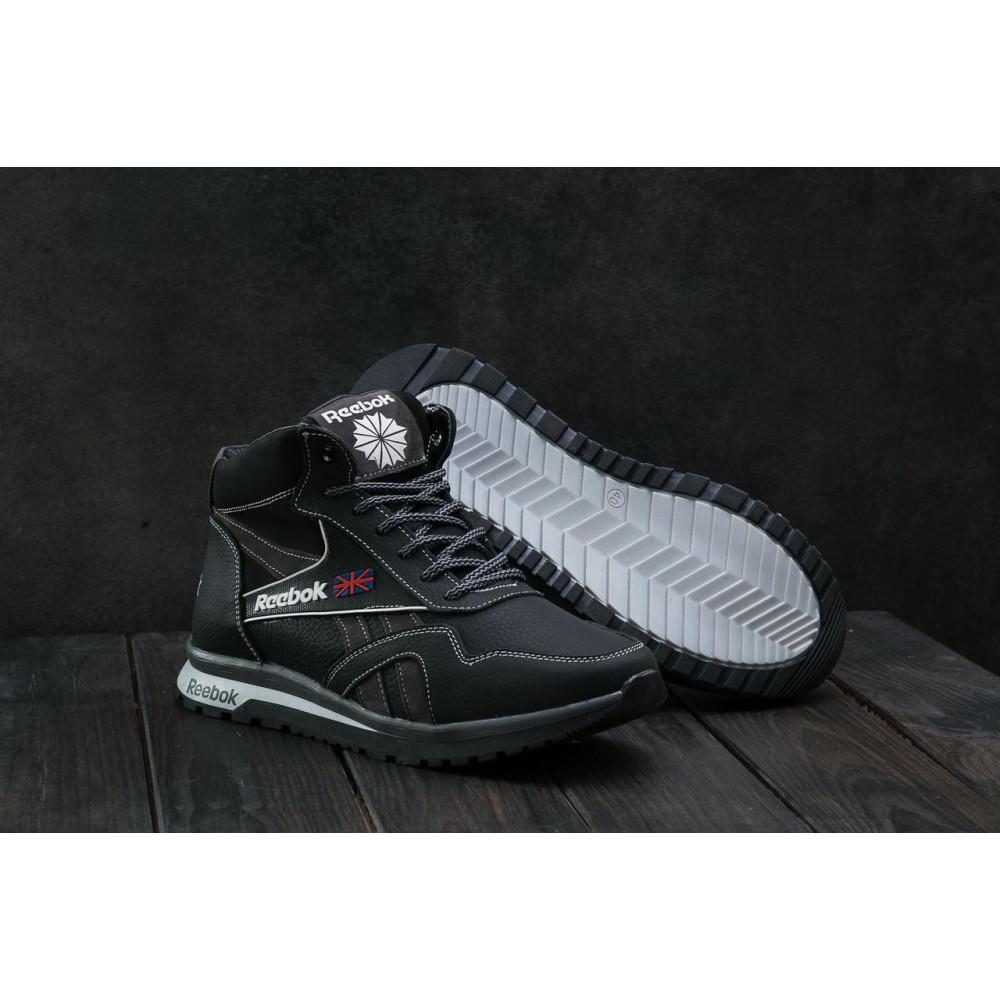 Зимние кроссовки мужские - Мужские кроссовки кожаные зимние черные-серые CrosSAV 50 1
