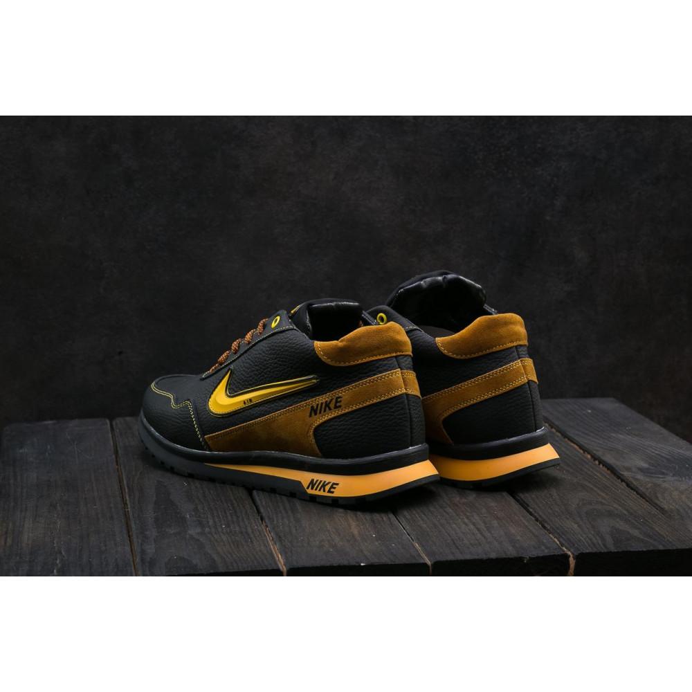 Зимние кроссовки мужские - Мужские кроссовки кожаные зимние черные-рыжие CrosSAV 22 2